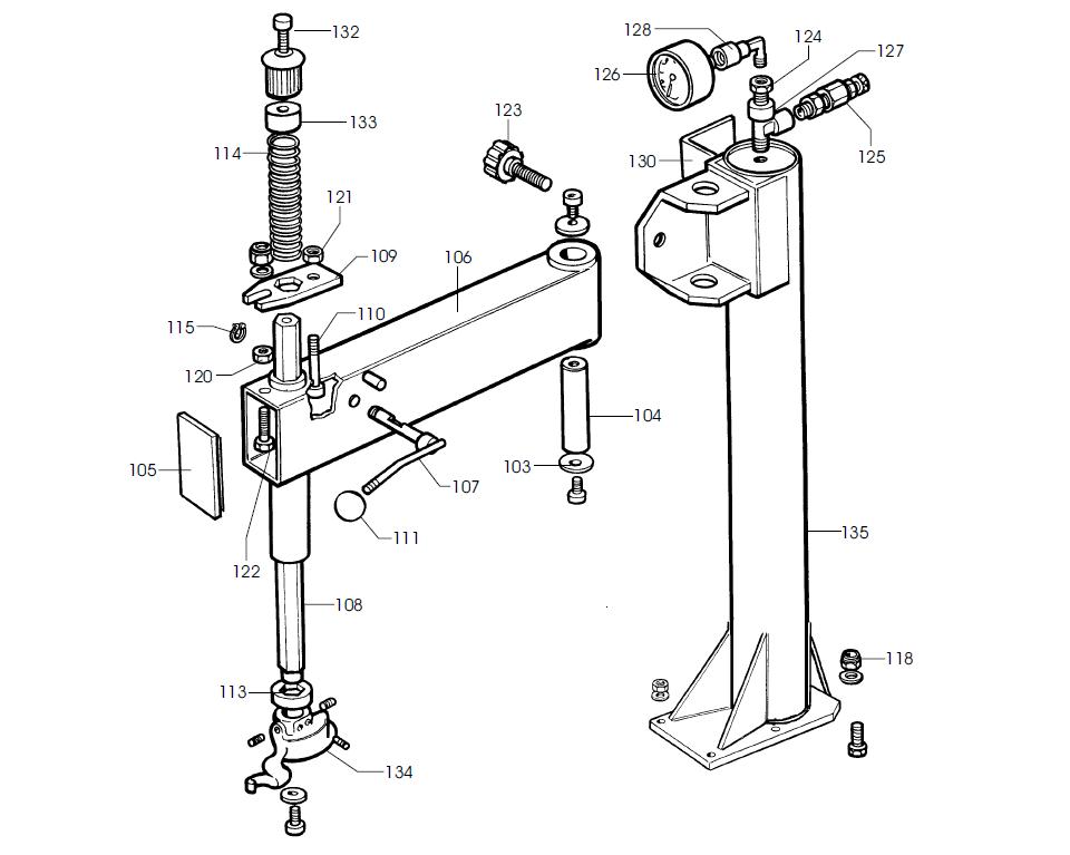 parts diagram for corghi a9820ti rh equipmentcity net Parts of a Tire Wheel Tire Machine Parts