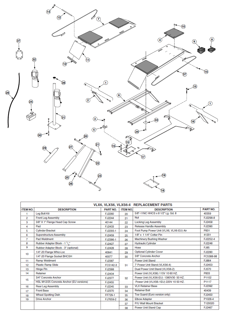Rotary vlxs6 2 parts diagram ccuart Images