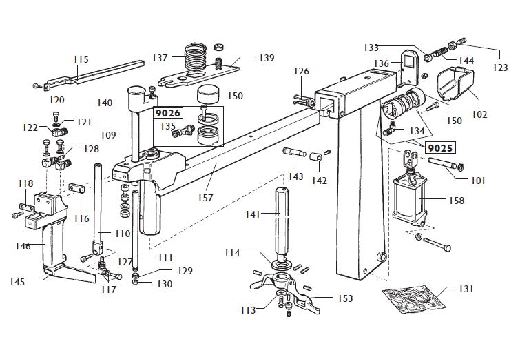 parts diagram for corghi mts40