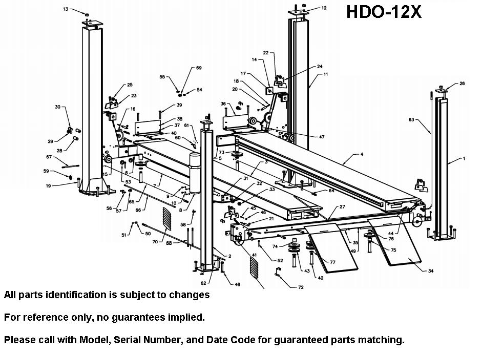 Parts Diagram For Bend Pak Hdo