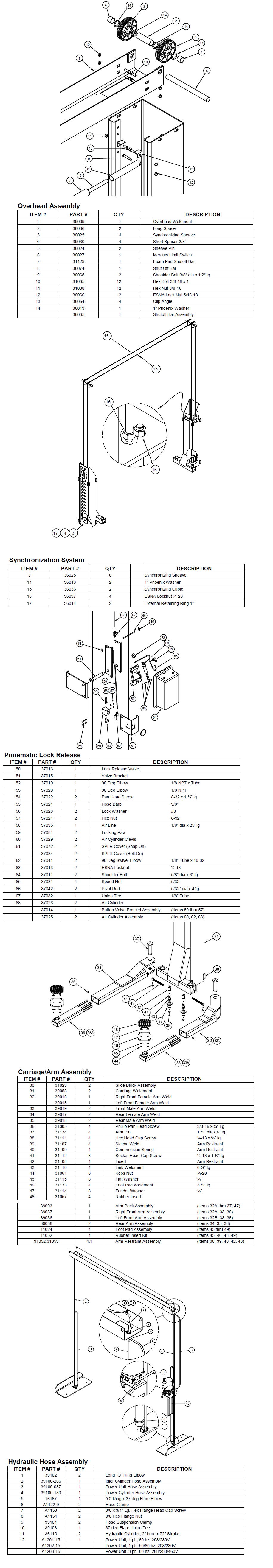 Parts Diagram For Challenger 39000 Lift Wiring