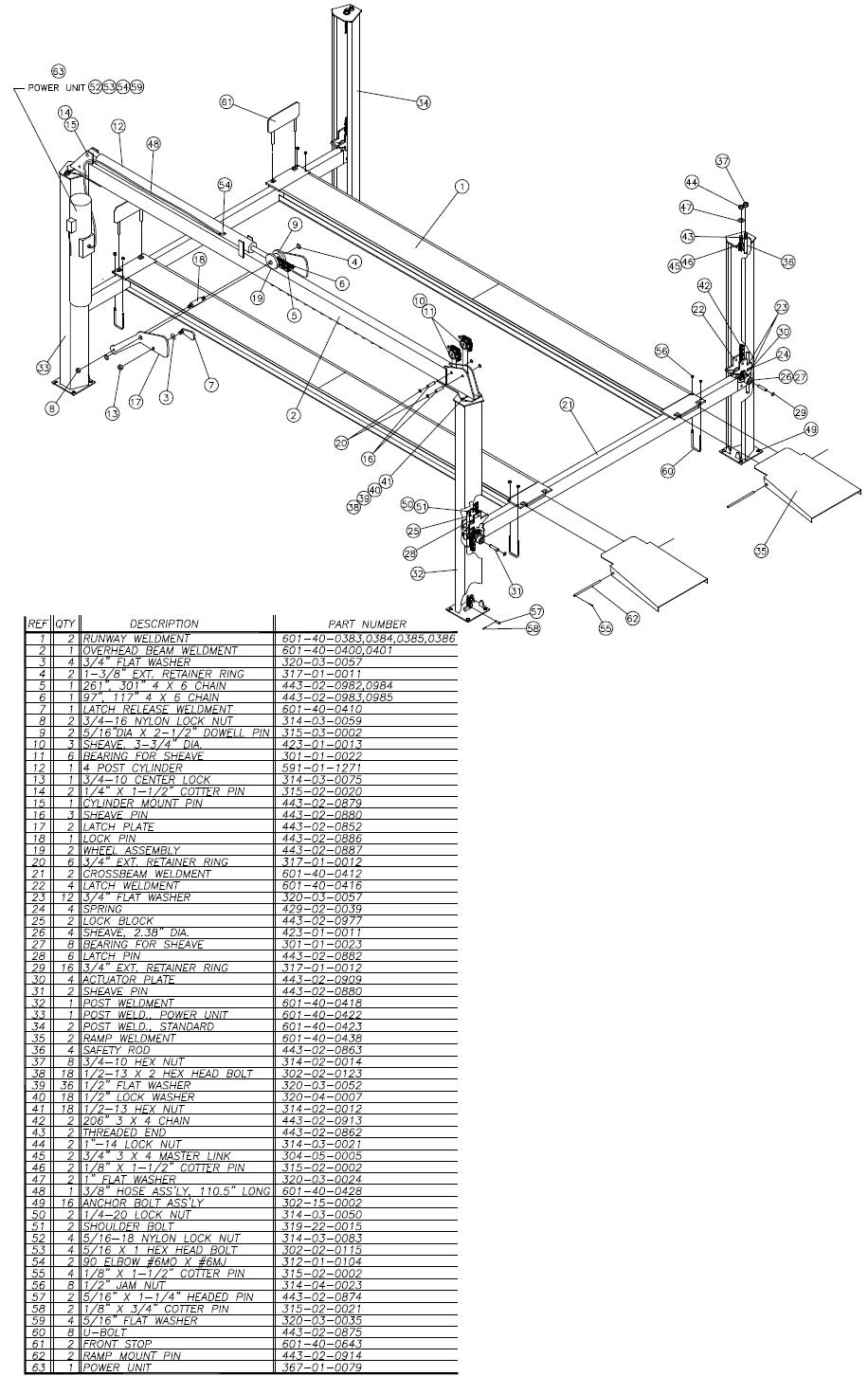 equipment city 4 post car lift wiring diagram #13