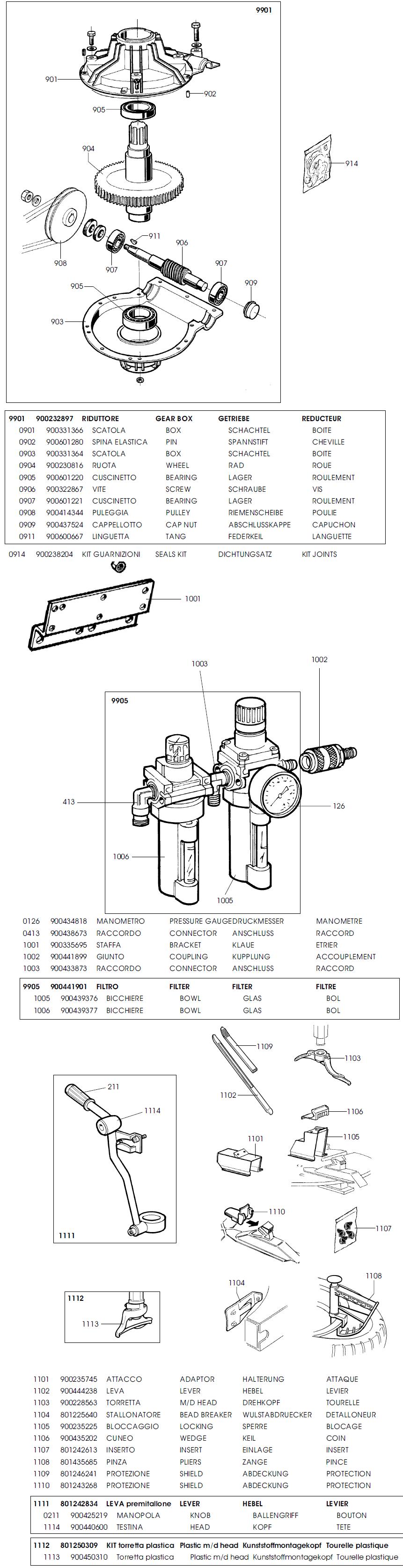 Parts Diagram for Corghi A9419TI. Display: List / Grid