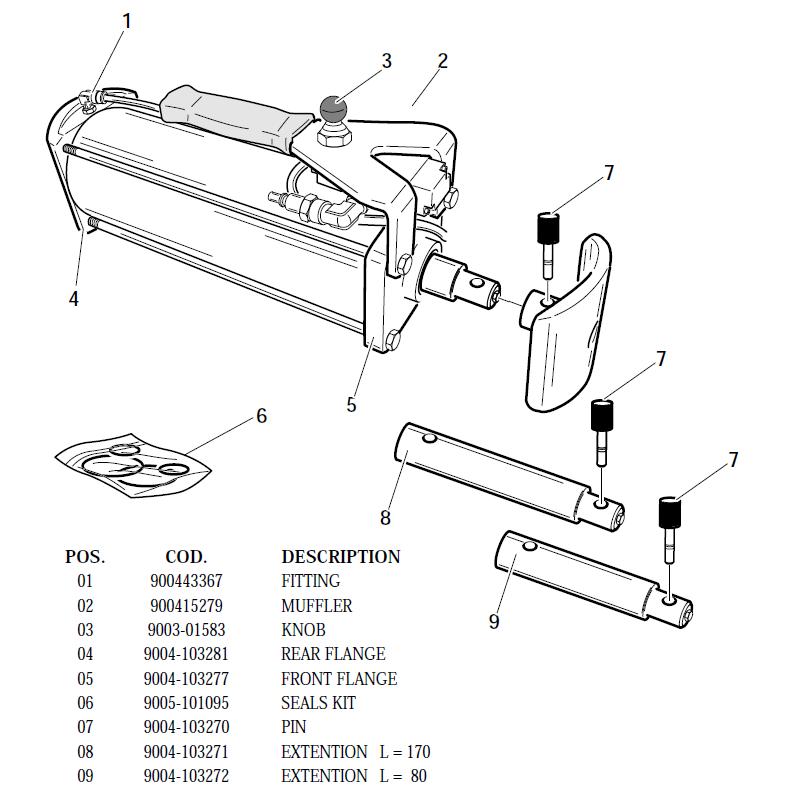 beam tire machine parts