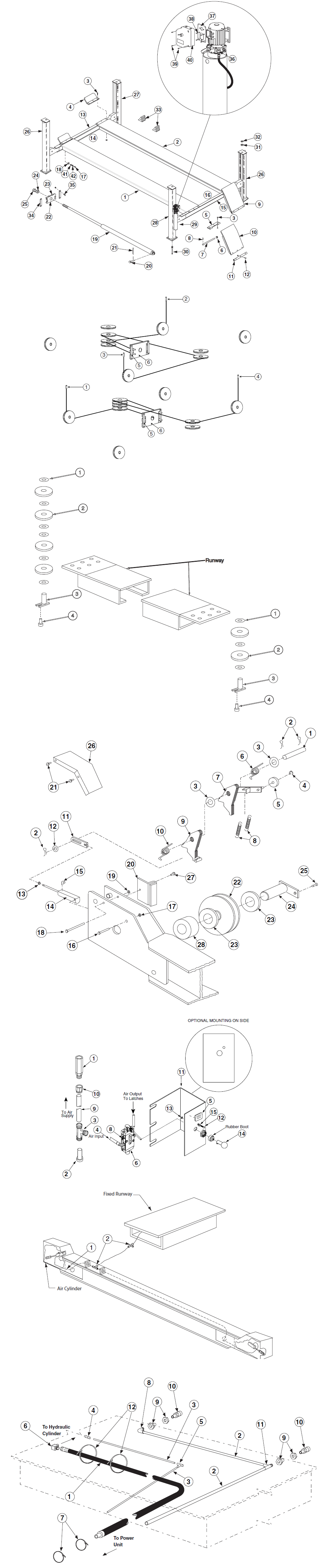 Rotary Rfl25 Parts Diagram