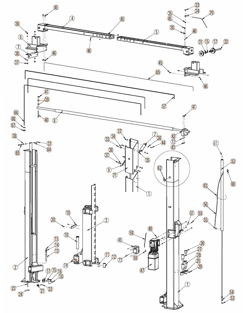 rotary lift motor wiring diagram lift station diagram