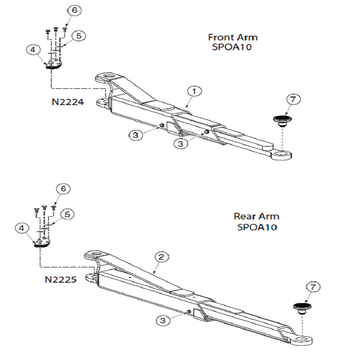 Rotary Lift Replacement Parts : Rotary spoa parts diagram