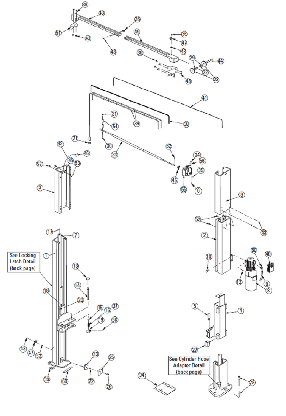 Rotary Lift Cylinder Parts : Rotary spoa parts diagram