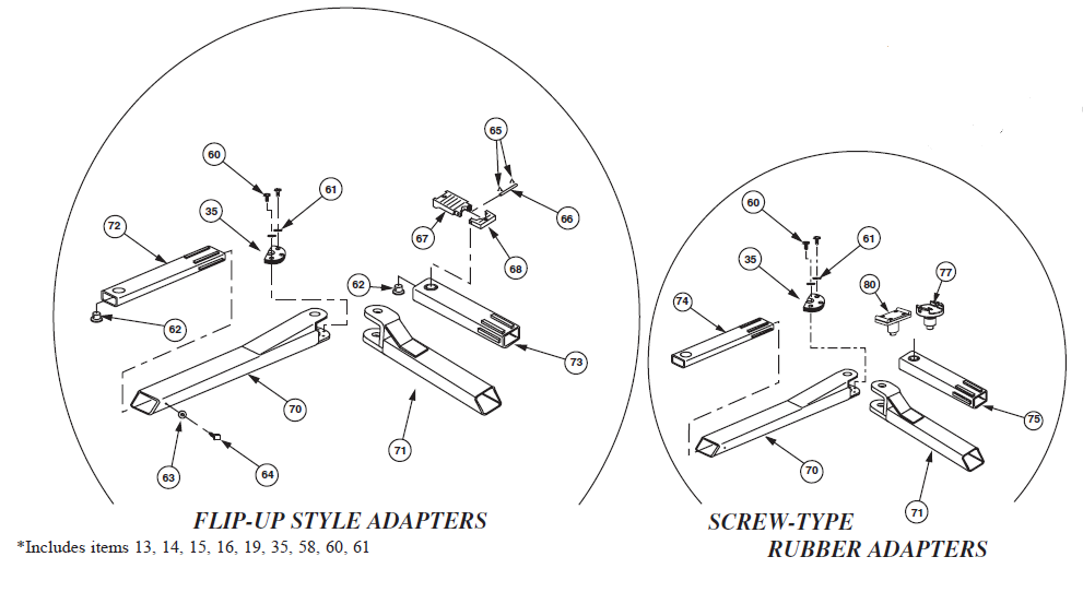 Rotary Lift Replacement Parts : Rotary spoa ra parts diagram