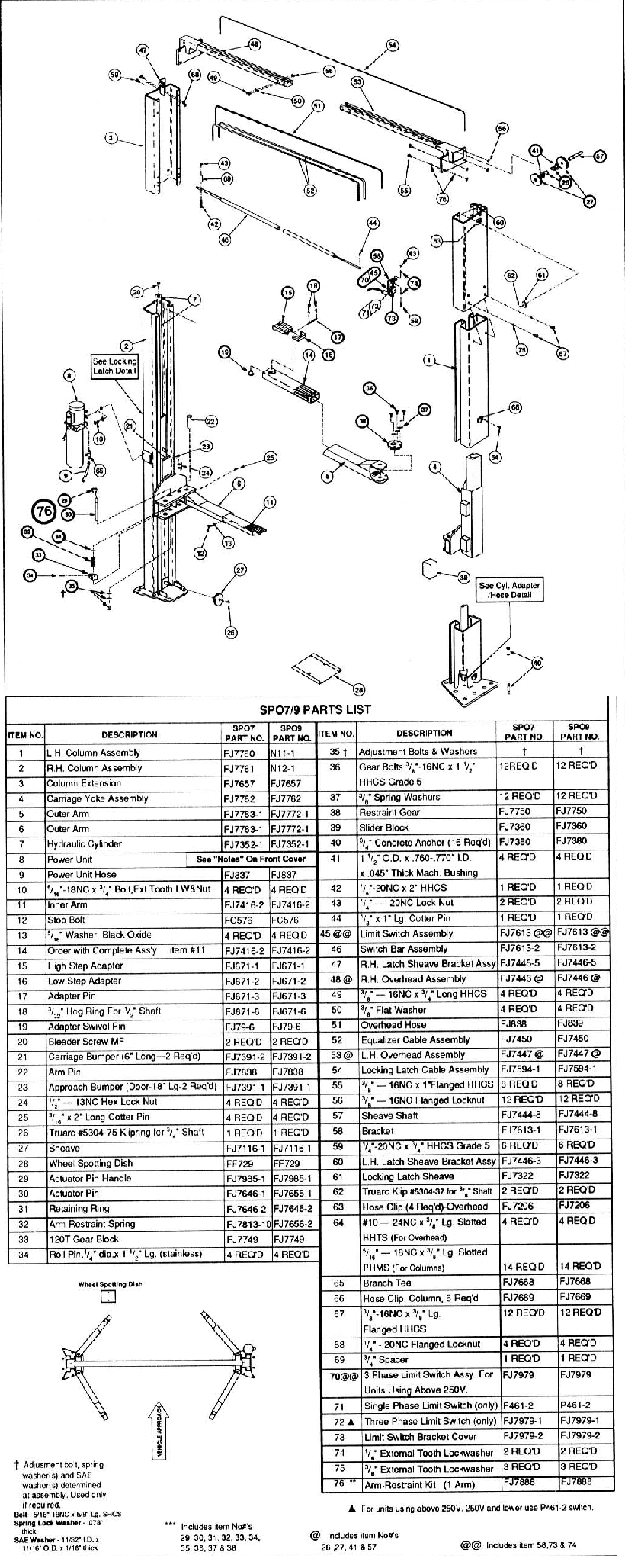 rotary spo7 parts diagram